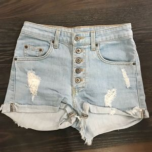 Carmar Blue Denim Shorts